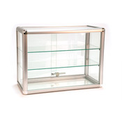 Countertop Showcase - 24W x 12D x 18H Aluminum Frame - Silver Finish
