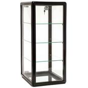 Countertop Showcase -14Lx12Wx27H Aluminum Frame - Black Finish