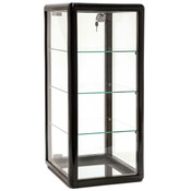 Countertop Showcase -14Lx12Wx27H Aluminum Frame - Black Finish