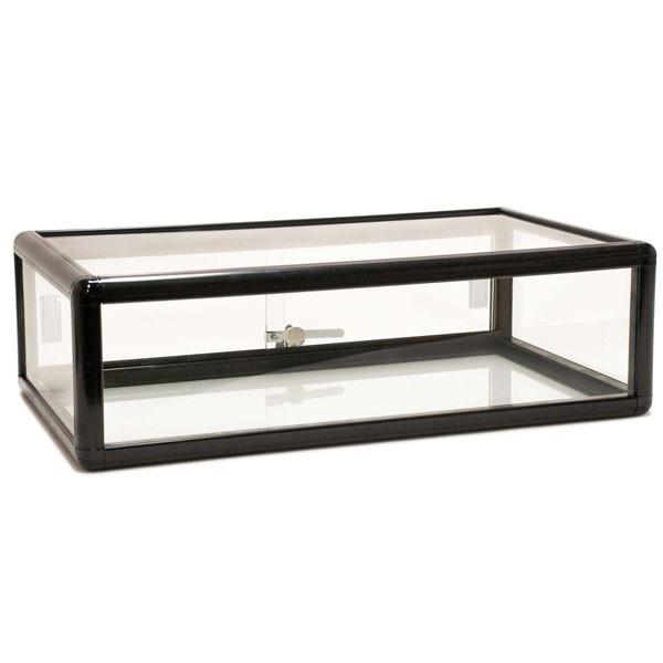 Countertop Showcase - 30L x 18D x 9H Aluminum Frame - Black Finish