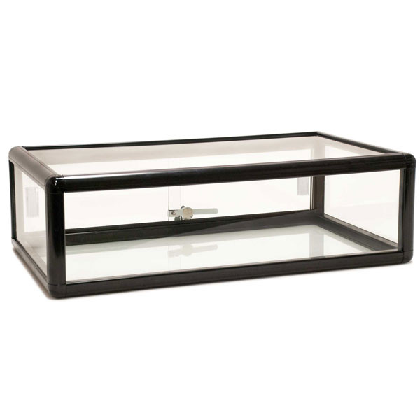 Countertop Showcase - 30L x 18D x 9H Aluminum Frame - Black Finish