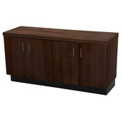 "Base cabinet chocolate cherry 24""hx48""wx16""d 1 adjustable shelf"