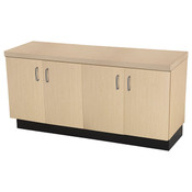 "Base cabinet maple 24""hx48""wx16""d 1 adjustable shelf"