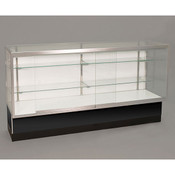 """Front opening showcase - 70"""" black with light 38""""h x 20""""d"""