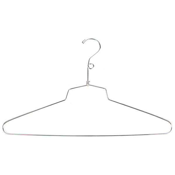 "Salesman skirt hanger- 16"" with loop chrome"