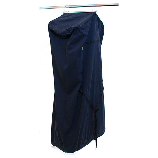 "Garment bag denim grip top 48"" long"
