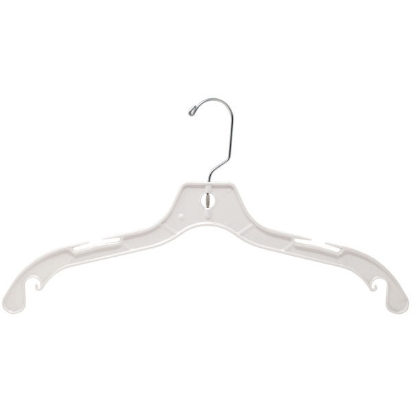 "Shirt and dress hanger 17"" heavy weight - white"