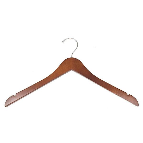 "Wood hanger 17"" cherry"