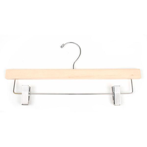 "Wood pant hanger 14"" natural"