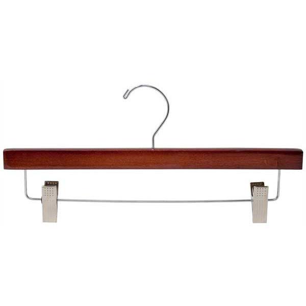 "Wood pant hanger 14"" cherry"