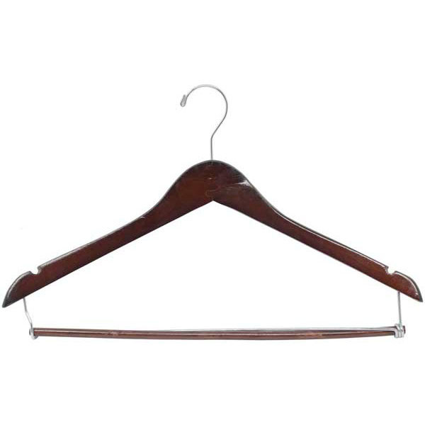 "Contoured wood suit hanger 17"" cherry"