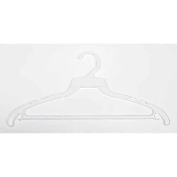 """Plastic hanger 16"""" white"""