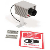 """Security camera metal with red blinking light 4""""x2.25""""x2"""""""