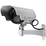 Simulated Security camera with red blinking light