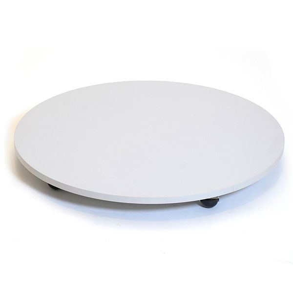 """Round base with casters 30"""" - gray"""