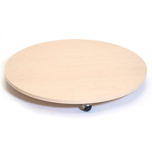 """Round base with casters 30"""" - maple"""