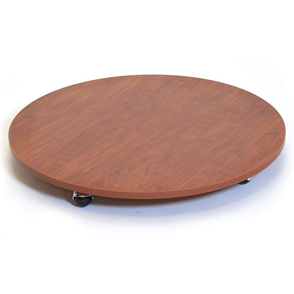 """Round base with casters 30"""" - cherry"""""""