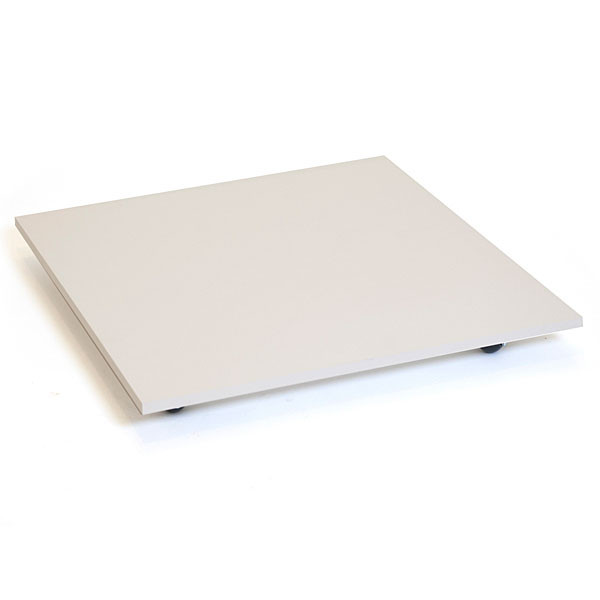 """Square base with casters 30"""" - white"""