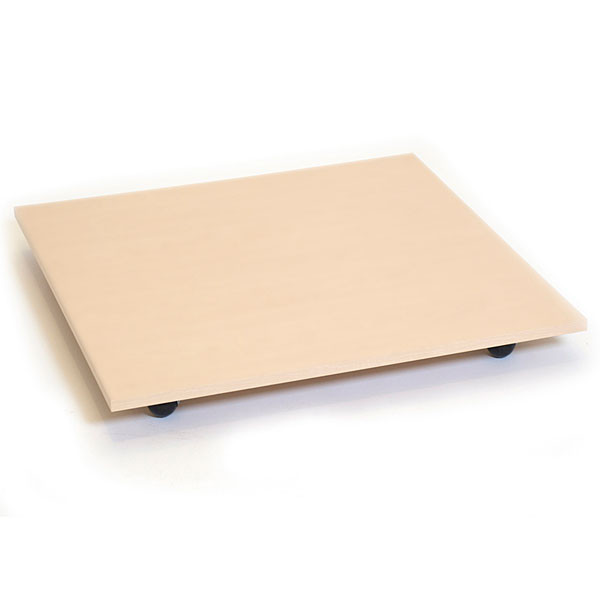 """Square base with casters 30"""" - almond"""