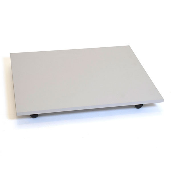 """Square base with casters 30"""" - gray"""