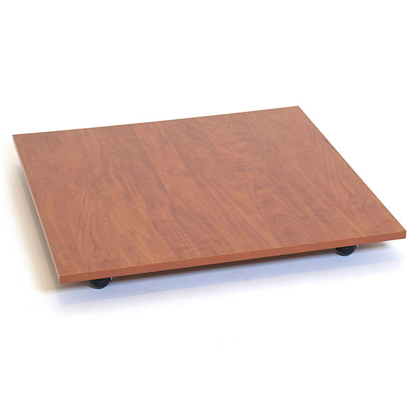 """Square base with casters 30"""" - cherry"""