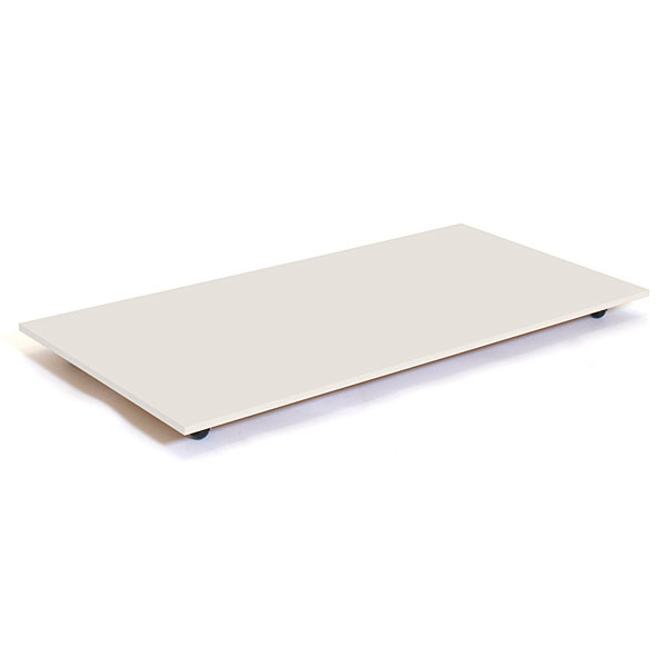"Rectangular base with casters 30""x60"" - white"