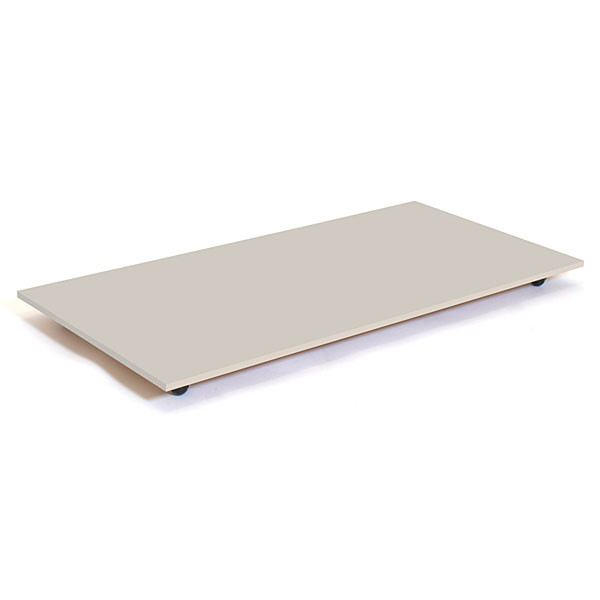 """Rectangular base with casters 30""""x60"""" - grey"""