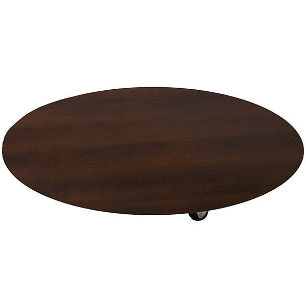 Round base with casters - 30 inch - chocolate cherry