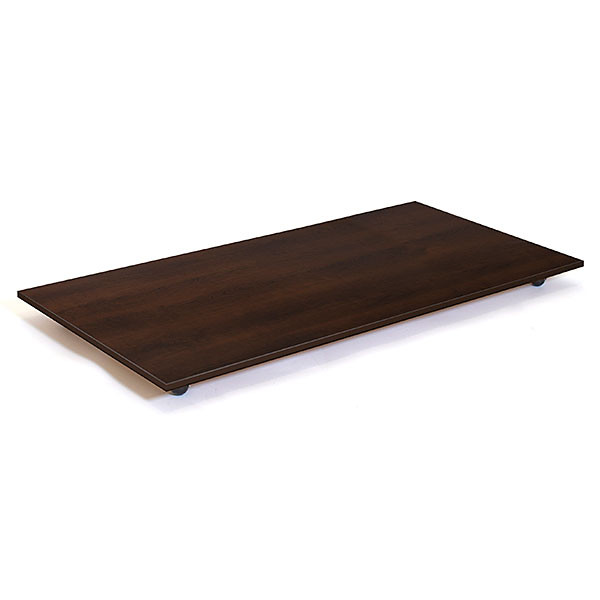 Rectangular base with casters - 30 x 60 - chocolate cherry