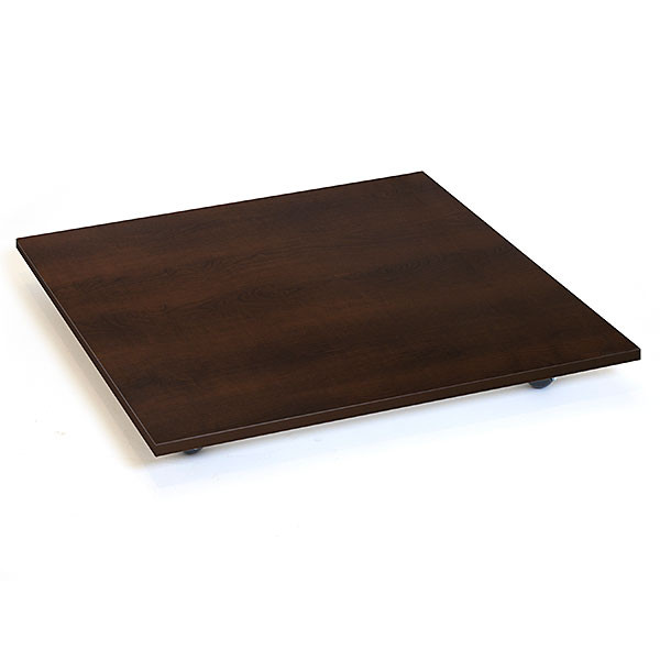 Square base with casters - 30 inch - chocolate cherry