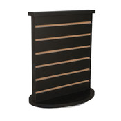 "Slatwall countertop spinner display 3""OC black"