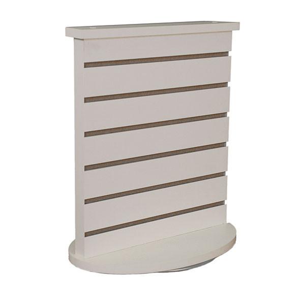 """Slatwall countertop spinner display 3""""OC white"""