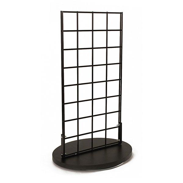2-Sided Countertop Grid Spinner Rack