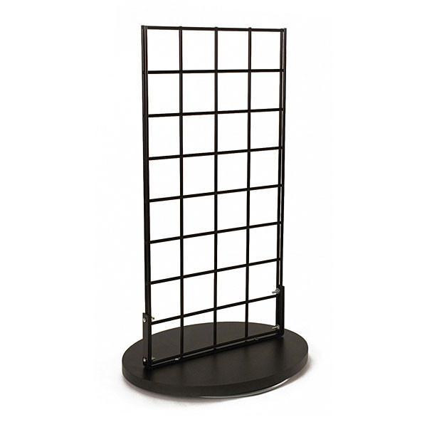 "Grid countertop spinner display 2-sided 3""OC black"