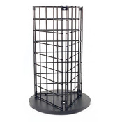 "Grid countertop spinner display 3-sided 3""OC black"