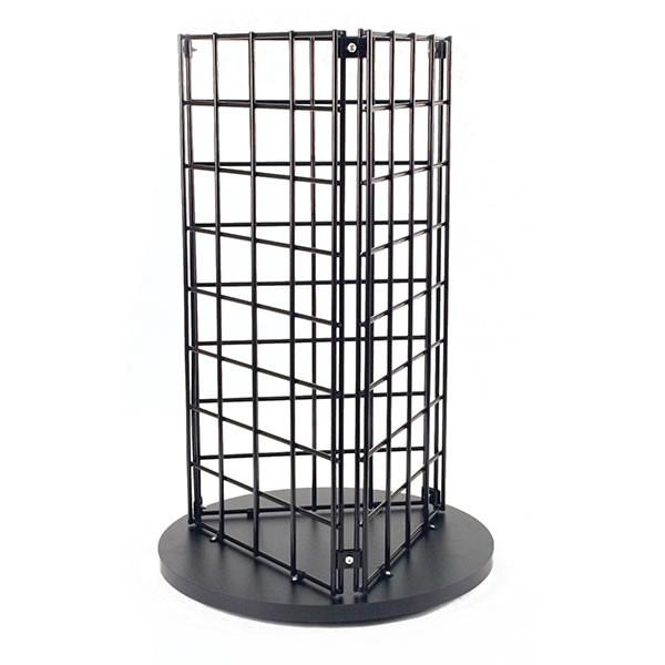 "Grid countertop spinner display 3-sided 3""OC black"