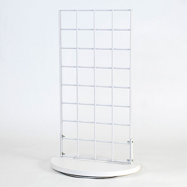 """Grid countertop spinner display 2-sided 3""""OC white"""
