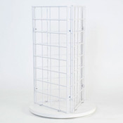 "Grid countertop spinner display 3-sided 3""OC white"