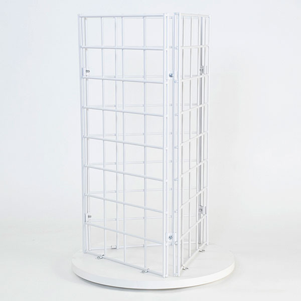 """Grid countertop spinner display 3-sided 3""""OC white"""