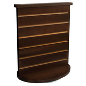 "Slatwall countertop spinner display 3""OC chocolate cherry"