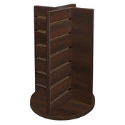 Countertop spinner 4-way display - Choc. Cherry