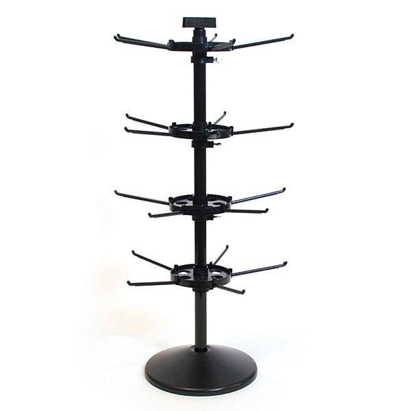 "Counter Rack Spinner Black 28.5""H X 9.5""Dia.-4 Tier"