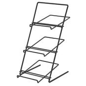 Countertop Rack with slanted shelves - black