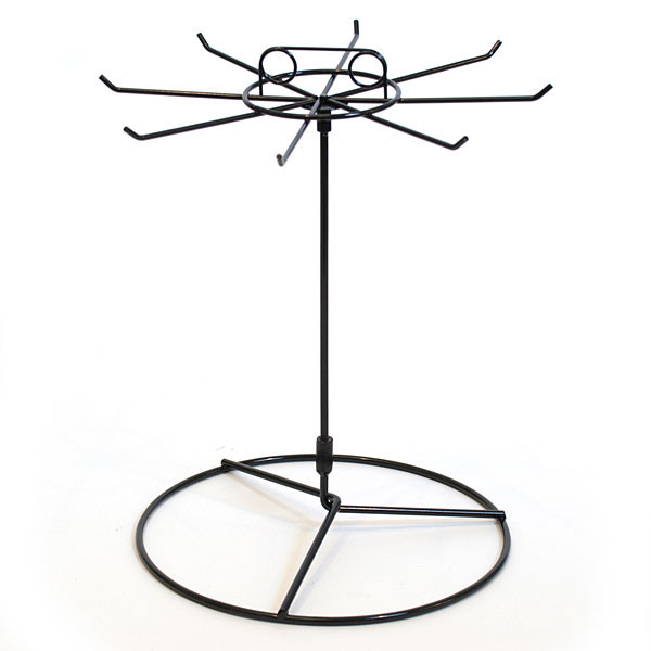 """Counter Spinner Rack 8-Hook Black Wire 15""""Hx11"""" Dia."""