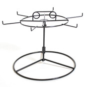 """Countertop spinner rack wire black 6-hook 10""""h"""