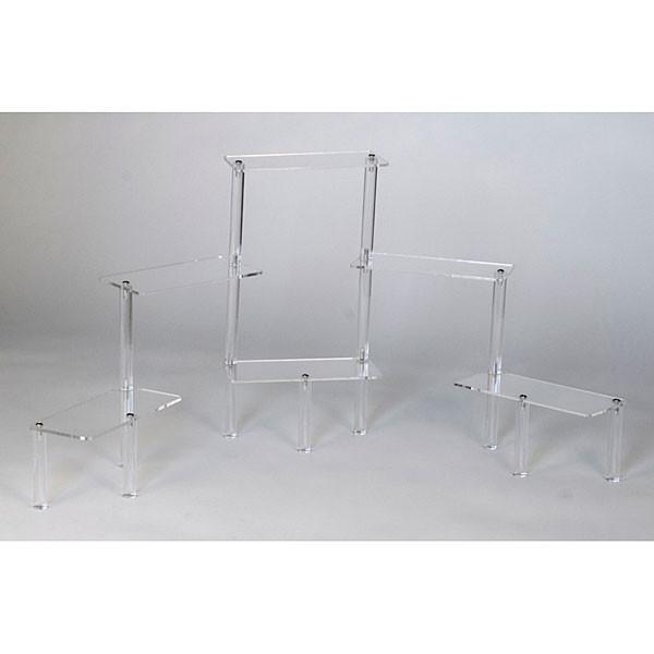 "Acrylic rectangular platform displayer 6-tier 11""h - clear"