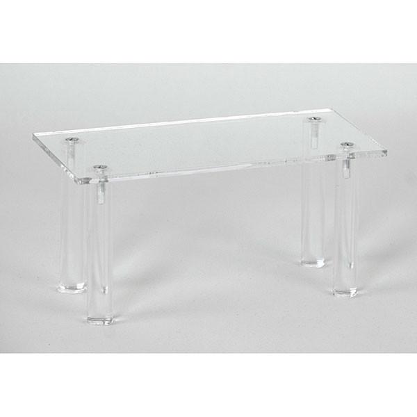 """Acrylic rectangular table 4""""hx8""""wx4""""d"""