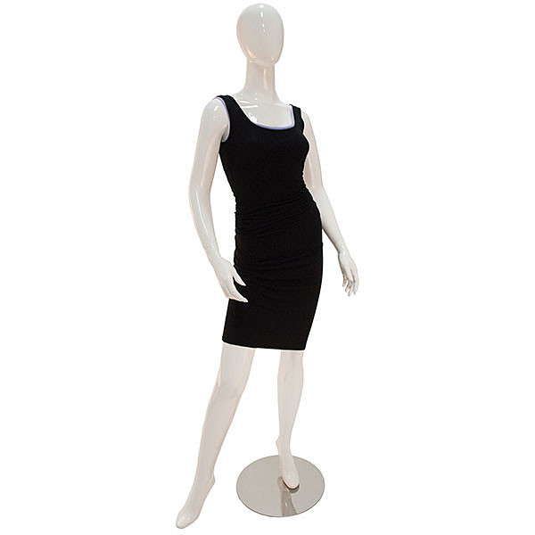 Mannequin Female No Face Glossy White