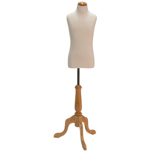 Natural Wood Round Dressmaker Form Base