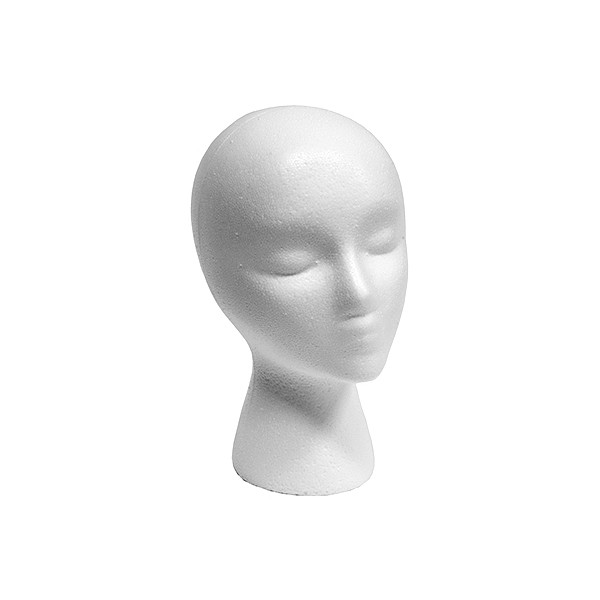 Styrofoam head female with face